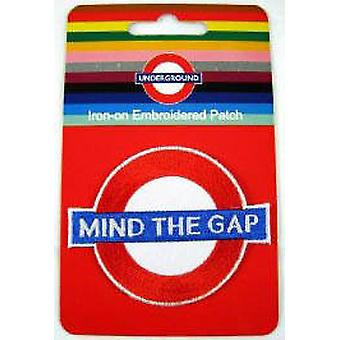 Mind The Gap roundel iron-on cloth patch  (ba)