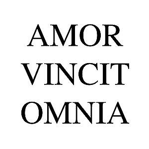 AMOR VINCIT OMNIA LATIN WALL QUOTE