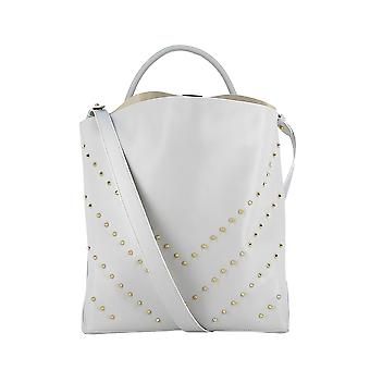 Carditosale White Leather Handbag