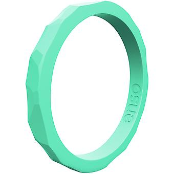 Enso Rings Hammered Stackables Series Silicone Ring - Sea Foam