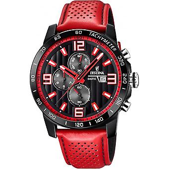 Festina watch Originals F20339-5 - watch chronograph leather red man