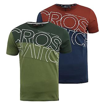 Mens t-shirt crosshatch top atkinsons