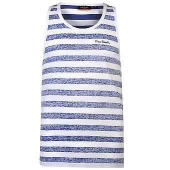 Pierre Cardin Mens omvänd Vest ärmlös linne T-Shirt T Shirt