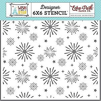 Echo Park Paper Wish Upon A Star Magical Sky 6x6 Inch Stencil (WST150033)