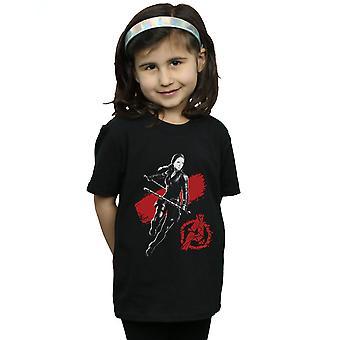Marvel Girls Avengers Endgame Mono Black Widow T-Shirt