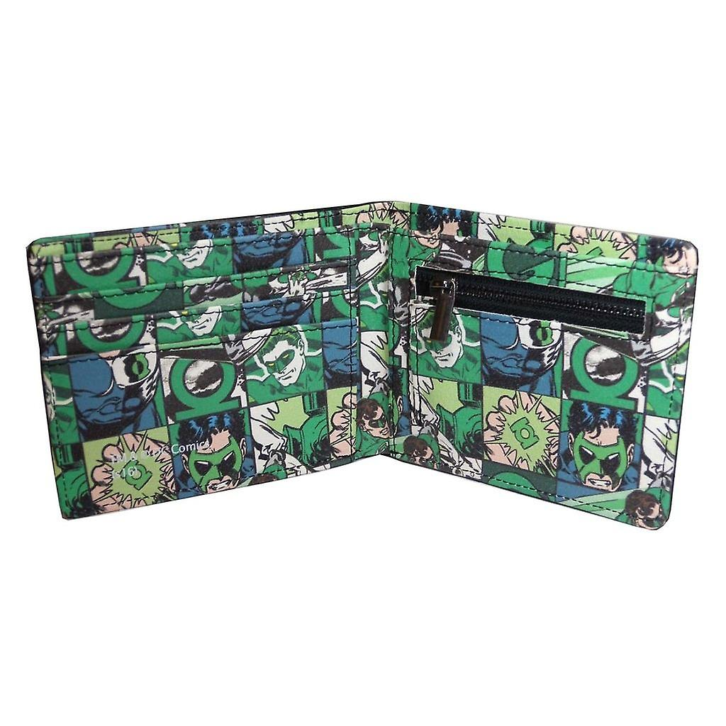 Men's DC Comics Green Lantern Black Bi-Fold Wallet