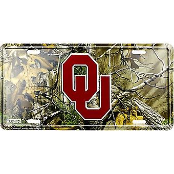 Oklahoma Sooners NCAA Camo License Plate