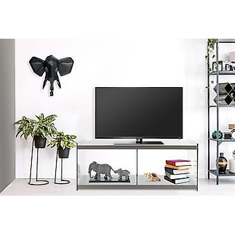 Lowboard Tv Table TV Table Chest Chest Of Drawer Sideboard Glass Wood Living Room Grey