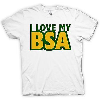 Womens T-shirt -  I Love My Bsa - Motorcycle - Biker