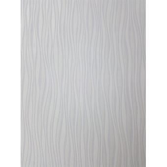 P+S Shimmer Striped Glitter Wallpaper Waves White Lilac Textured Paste Wall