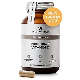Wilde voeding voedsel-gekweekte vitamine D Vegicaps 30