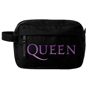 Queen Wash Bag Classic Crest Band Logo new Official Black