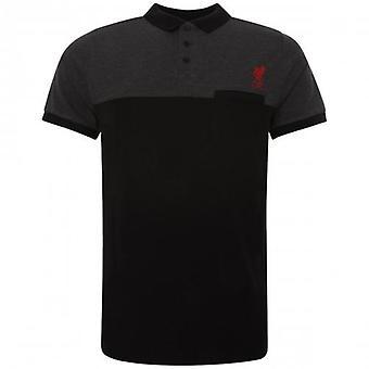 Liverpool Block Polo Shirt Mens Black XXL