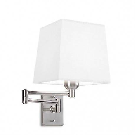 1 lumière Indoor Adjustable Wall Lamp Satin Nickel
