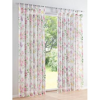 Heine Home 2x Decostore printed with floral design white/colorful suspension with ties