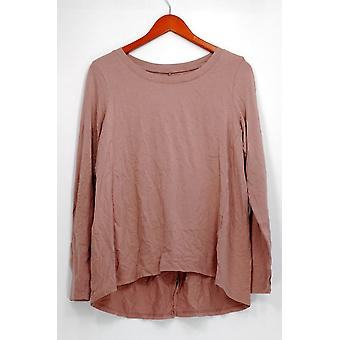 Anybody Petite Top MP Loungewear Petite Cozy Knit Long Sleeves Pink A298207