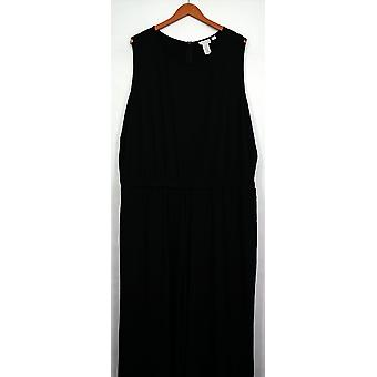 Joan Rivers Classics Collection Petite Jumpsuits Wide Leg Black A261822