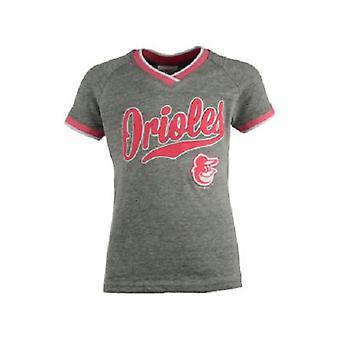 Baltimore Orioles MLB 5th & Ocean Girls Vneck Triblend T-Shirt