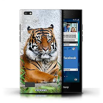 STUFF4 Case/Cover for Blackberry Leap/Tiger/Wildlife Animals
