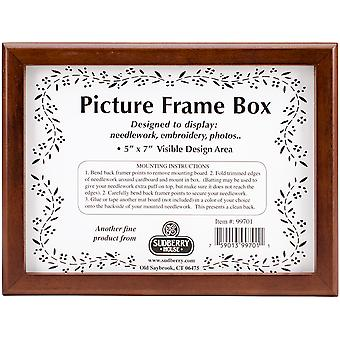 Mahogany Picture Frame Box 8.25