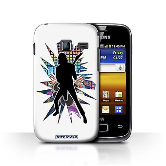 STUFF4 Case/Cover for Samsung Galaxy Y Duos/S6102/Solo White/Rock Star Pose
