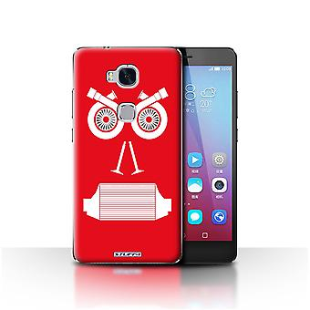 STUFF4 Custodia/Cover per Huawei Honor 5 X/GR5/Turbo/rosso/auto parte affronta