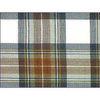 Stewart Dress Blue, Muted - Pure Wool Tartan