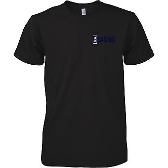 Logotipo de vela RN 1 - cor de t-shirt de esportes da Marinha Real