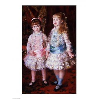 The Cahen dAnvers Girls Poster Print by Pierre-Auguste Renoir