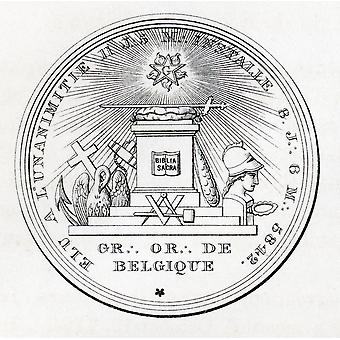 Masonic Seal Engraving From The Book The History Of Freemasonry Volume Iii Published By Thomas C Jack London 1883 PosterPrint