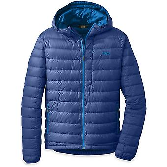Outdoor Research Mens Transcendent Down Hoody Baltic/Glacier (Small)