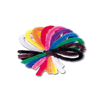 50 Extra Long Assorted Chunky Pipecleaners for Crafts | Chenille Stems