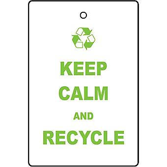 Keep Calm And Recycle Car Air Freshener