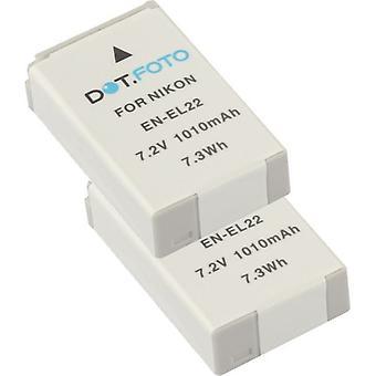 2 x Dot.Foto Nikon EN-EL22 Replacement Battery - 7.2v / 1010mAh