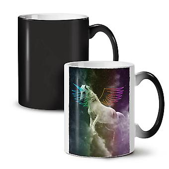 Pegasus Horse Fantasy NEW Black Colour Changing Tea Coffee Ceramic Mug 11 oz | Wellcoda
