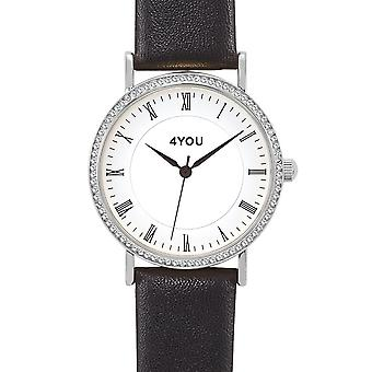 4YOU Dameur wrist watch analog quartz syntetisk læder 250007000