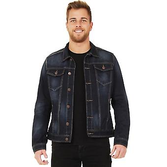 Mens Dark Denim Jacket - Indigo