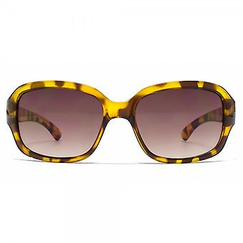 French Connection Classic Rectangle Sunglasses In Tortoiseshell
