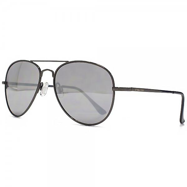 Steelfish Ace Aviator Sunglasses In Silver Mirror