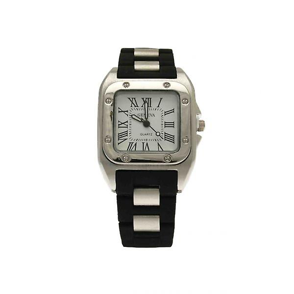 W.A.T Unisex Black Geneva Watch