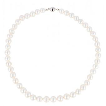 Pearl Aurora Medium Ice Drop Freshwater Pearl Necklace - White