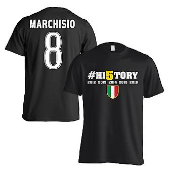 Juventus History Winners T-Shirt (Marchisio 8) - Black