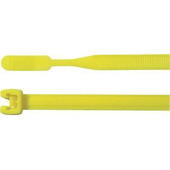 Cable tie 160 mm Yellow Open end HellermannTyton 1