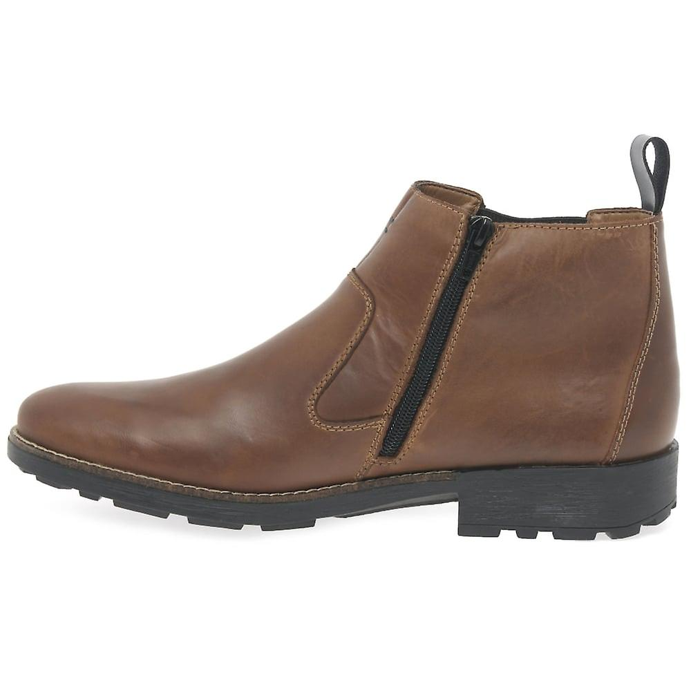 Mens' Leather 36062 Boots Richard Ankle Brown Rieker 5wqzx1ZFO