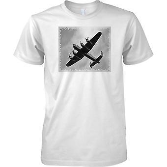 Avro Lancaster Bomber Black & weiß--Herren T Shirt