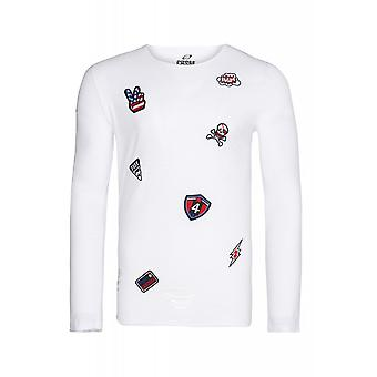 CARISMA patches sweater men's sweater white sweater