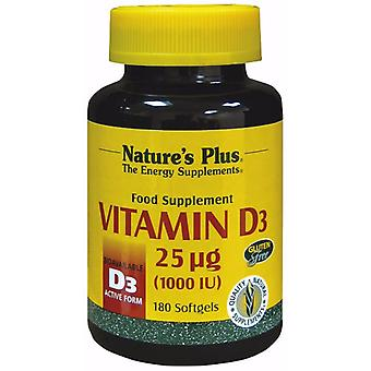 Naturer Plus VITAMIN D3 1000 IE SOFTGELS 180