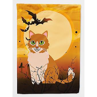 Carolines skatter BB4460CHF Halloween Ural Rex katten flagg lerret huset størrelse