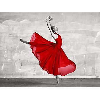 Ballerine rouge affiche imprimée par la Collection de photos Haute