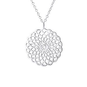 Flower - 925 Sterling Silver Plain Necklaces - W23313X